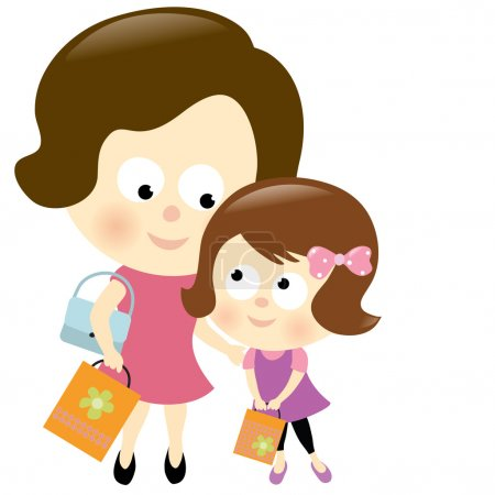 Mother and daughter shopping 2