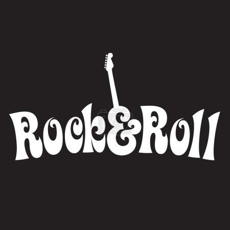 Illustration pour Conception de rock and roll des années 70 - image libre de droit