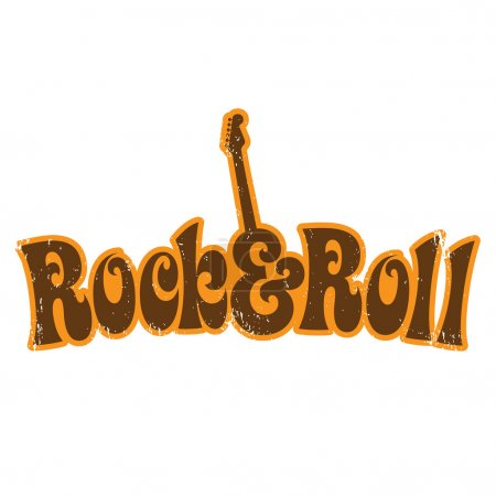 Rock and Roll vintage shirt design