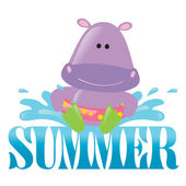 Summer Splash Graphic 3 w/ hippo