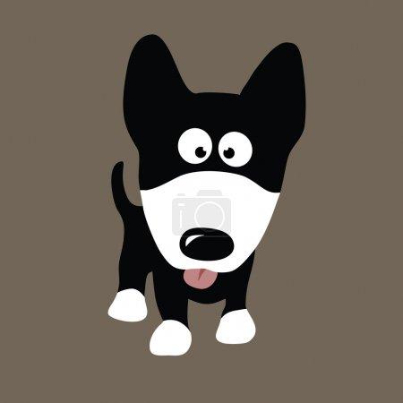 Illustration pour Illustration chien loup - image libre de droit
