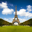 Beautiful photo of the Eiffel tower in Paris with ...