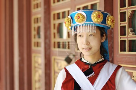 Chinese woman in traditional clothes
