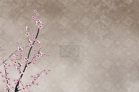 Decorative cherry tree, chinese pattern