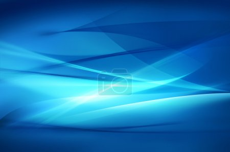 Photo for Abstract blue background, wave or veil texture - Royalty Free Image