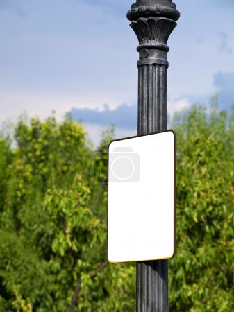 Blank white post