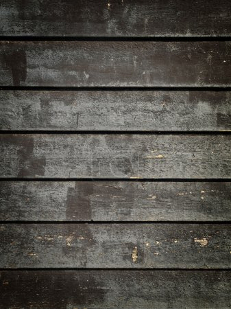 Photo for Black Grunge Wood Panels - Royalty Free Image