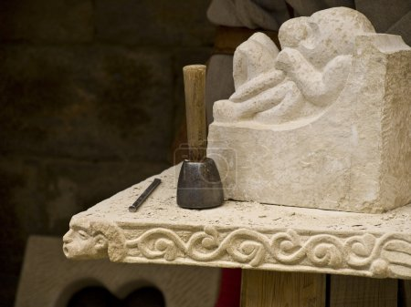 Detail of a sculptor's mallet