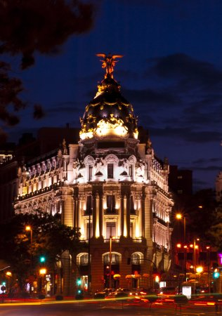 Metropolis Building in Gran Via, Madrid