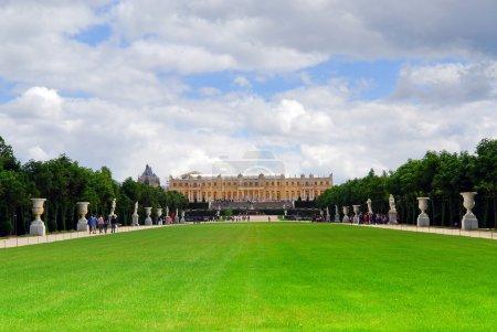 Versailles gardens and palace