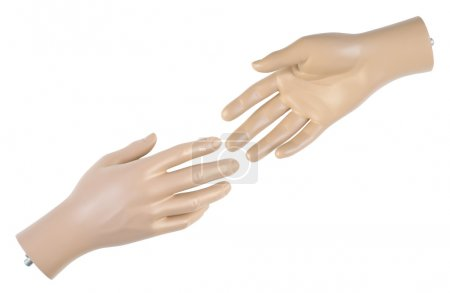 Male mannequin hands   Isolated