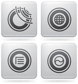 Bunch of abstract web icons for general use (part of Platinum Square 2D Icons)