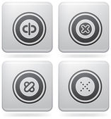 Bunch of abstract web icons for general use (part of Platinum Square 2D Icons Set)