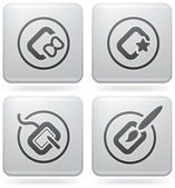 Computer peripherals and all kind software file types icons set (part of Platinum Square 2D Icons Set)