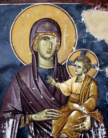 Holly Mary with Christ