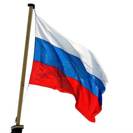 Photo pour National drapeau russe isolé sur fond blanc - image libre de droit