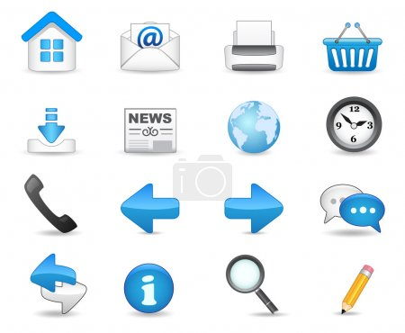 Photo for Universal icon set for your website. - Royalty Free Image