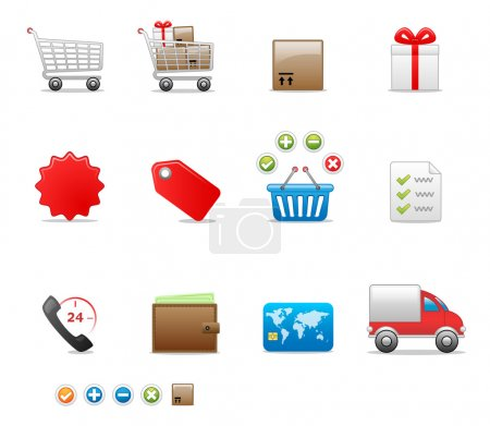 Photo for Internet shop icon set for your website. - Royalty Free Image