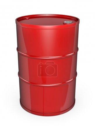 Red oil drum