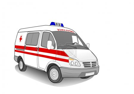 Illustration for Ambulance car , vector illustration - Royalty Free Image