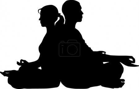 Illustration for Couple meditation - Royalty Free Image