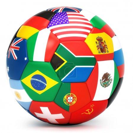 Photo pour Ballon de soccer - image libre de droit