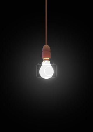 Hanging light-bulb