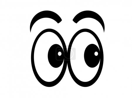 Cartoon eyes looking left, flip and they look righ...