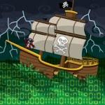 Pirate ship on a digital sea...