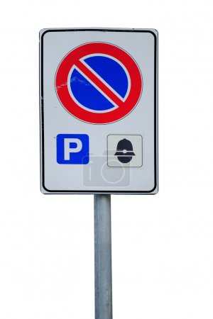 Reserved parking road sign