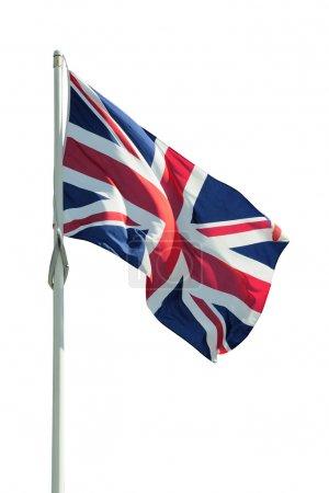 Photo pour Drapeaux britannique isoalted sur blanc - image libre de droit