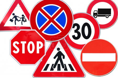 Collection of road sign