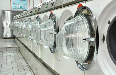 A laundromat