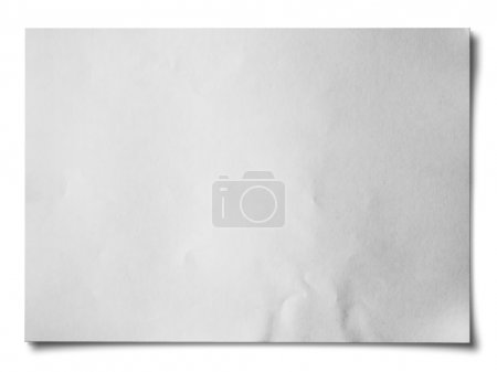 Photo for White crumpled paper on white background isolated Horizontal - Royalty Free Image