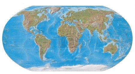 Photo pour Carte du monde de la terre - image libre de droit