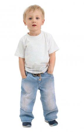Boy of three years isolated
