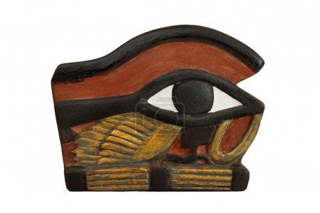 Photo pour Le œil d'horus, personnifié par la déesse Ouadjet aussi écrit Oudjat, uadjet ou uto et sous le œil de ra ou Oudjat est une ancienne egypti - image libre de droit