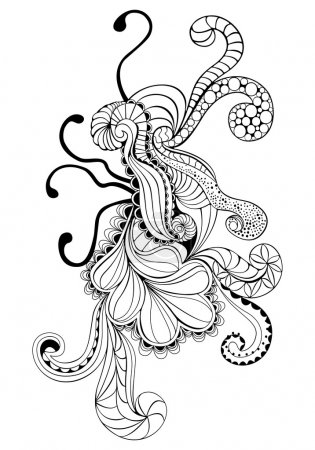 Illustration for Psychedelic doodle design element - Royalty Free Image