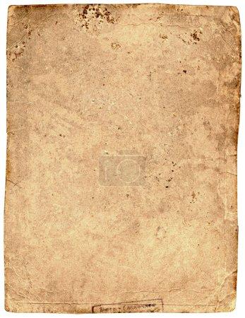 Photo pour Vieux papier texturé en lambeaux, fond d'art carton - image libre de droit