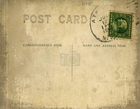 Photo pour Carte postale vintage avec effet de fond grunge - image libre de droit