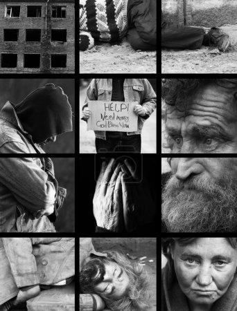 Photo pour Photo noir et blanc spécial f / x et grille sombre, fabriqués à partir de mes images - image libre de droit