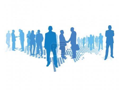 Photo pour Business concept, (homme et femme) se trouve sur la carte du monde - image libre de droit