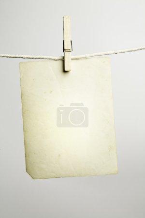 Empty vintage blank