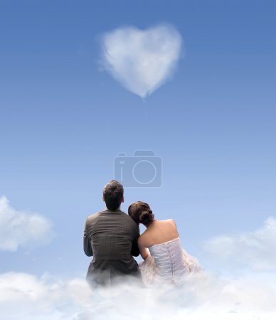 Photo for Creative style photo of a wedding couple - Royalty Free Image