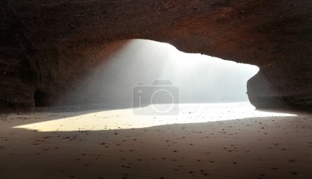 Under arch rock formation in Morocco