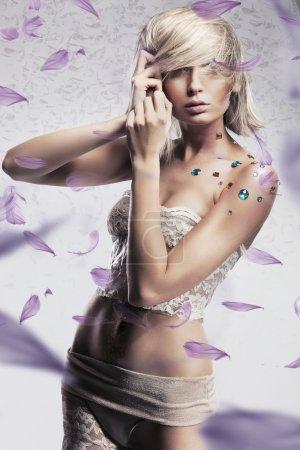 Glamour style photo of beautiful blond woman