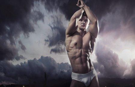 Photo pour Portrait d'un athlète attrayant - image libre de droit