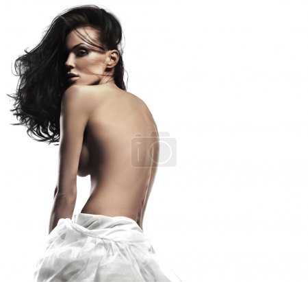 Photo for Sexy woman wearing white dress - Royalty Free Image