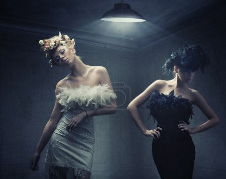 Photo for Vogue style photo of two fashion ladies - Royalty Free Image