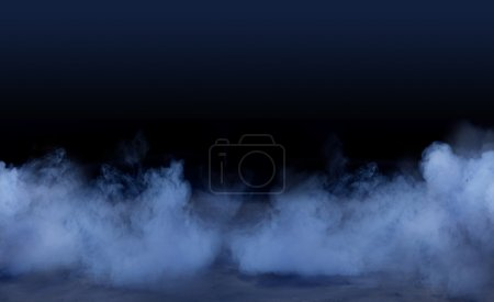 Studio background with smoky effect